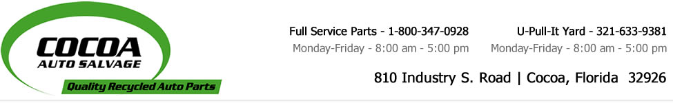 Central Florida & Space Coast Used Auto Parts